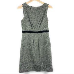 Loft Black and White Tweed Sleeveless Dress